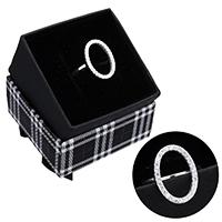 kiss me® Finger Ring, 925 Sterling Silber, mit Karton-box, Micro pave Zirkonia, 18mm, Größe:6, verkauft von PC