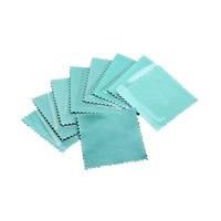 WildlederVeloursleder Silberpoliertuch, Quadrat, Türkisblau, 80x80mm, 10PCs/Menge, verkauft von Menge
