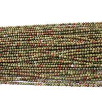 Unakit Perlen, Unakite, rund, natürlich, verschiedene Größen vorhanden, Bohrung:ca. 0.5mm, Länge:ca. 17 ZollInch, verkauft von Menge