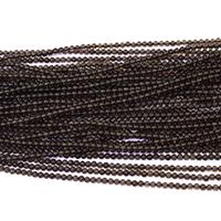 Natürliche Rauchquarz Perlen, rund, verschiedene Größen vorhanden, Bohrung:ca. 0.5mm, Länge:ca. 16 ZollInch, verkauft von Menge