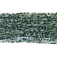Natürliche Moos Achat Perlen, rund, verschiedene Größen vorhanden, Bohrung:ca. 0.5mm, Länge:ca. 16 ZollInch, verkauft von Menge