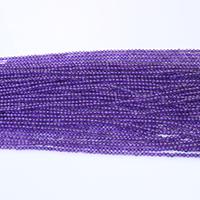 Natürliche Amethyst Perlen, rund, Februar Birthstone & verschiedene Größen vorhanden, Bohrung:ca. 0.5mm, Länge:ca. 15.5 ZollInch, verkauft von Menge