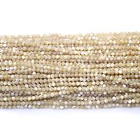 Natürliche Süßwasser Muschel Perlen, rund, verschiedene Größen vorhanden, Bohrung:ca. 0.5mm, Länge:ca. 16 ZollInch, verkauft von Menge