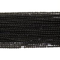 Schwarze Obsidian Perlen, Schwarzer Obsidian, rund, verschiedene Größen vorhanden, Bohrung:ca. 0.5mm, Länge:ca. 16 ZollInch, verkauft von Menge