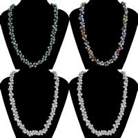 Natürliche Süßwasser Perle Halskette, Natürliche kultivierte Süßwasserperlen, Knopf, keine, 7-8mm, verkauft per ca. 23.5 ZollInch Strang