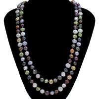 Natürliche Süßwasser Perle Halskette, Natürliche kultivierte Süßwasserperlen, Barock, farbenfroh, 9-10mm, verkauft per ca. 51.5 ZollInch Strang