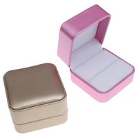 Karton Einzelring Kasten, mit PU Leder & Baumwollsamt, Quadrat, keine, 70x48x70mm, verkauft von PC