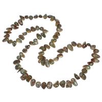 Natürliche Süßwasser Perle Halskette, Natürliche kultivierte Süßwasserperlen, 8-11mm, verkauft per ca. 33.5 ZollInch Strang