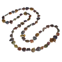 Natürliche Süßwasser Perle Halskette, Natürliche kultivierte Süßwasserperlen, 7x3mm-22x7mm, verkauft per ca. 33.5 ZollInch Strang