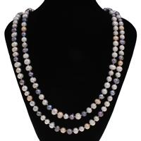 Natürliche Süßwasser Perle Halskette, Natürliche kultivierte Süßwasserperlen, Kartoffel, 7-8mm, verkauft per ca. 48.5 ZollInch Strang