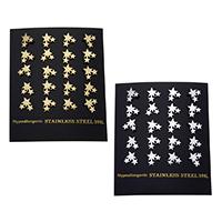Edelstahl Ohrringe, Stern, plattiert, keine, 9x8x12.50mm, verkauft von Paar