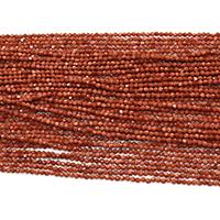 Goldstein Perlen, Goldsand, rund, natürlich, verschiedene Größen vorhanden & facettierte, Bohrung:ca. 0.5mm, Länge:ca. 16 ZollInch, verkauft von Menge
