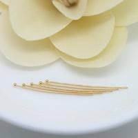 Messing Ball Head Pin, 24 K vergoldet, verschiedene Größen vorhanden, frei von Nickel, Blei & Kadmium, 100PCs/Menge, verkauft von Menge