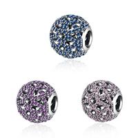 kommen on® Schmuck Beads, Thailand, rund, verschiedene Verpackungs Art für Wahl & Micro pave Zirkonia & ohne troll & hohl, keine, 11x12mm, Bohrung:ca. 5mm, verkauft von PC