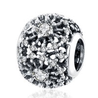 kommen on® Schmuck Beads, Thailand, Rondell, Micro pave Zirkonia & ohne troll & hohl, 10x12mm, Bohrung:ca. 5mm, verkauft von PC
