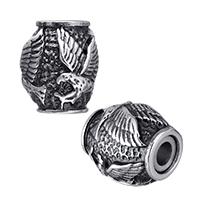 Zinklegierung Magnetverschluss, Edelstahl, oval, Schwärzen, 11x13x11mm, Bohrung:ca. 3mm, 20PCs/Menge, verkauft von Menge