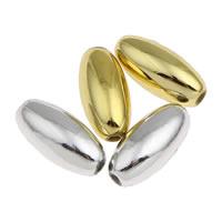 Plattierte Acrylperlen, Acryl, oval, keine, 6x12mm, Bohrung:ca. 1mm, ca. 2200PCs/Tasche, verkauft von Tasche