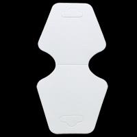 Papier Necklace \u0026 Bracelet Display Card, weiß, 48x100x0.50mm, 200PCs/Tasche, verkauft von Tasche