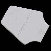 Papier Necklace \u0026 Bracelet Display Card, mit Brief Muster, weiß, 40x94mm, 200PCs/Tasche, verkauft von Tasche