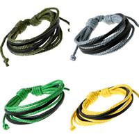 Unisex-Armband & Bangle, Kuhhaut, mit Gewachste Nylonschnur, 8-Strang, keine, 20mm, verkauft per ca. 6.6 ZollInch Strang