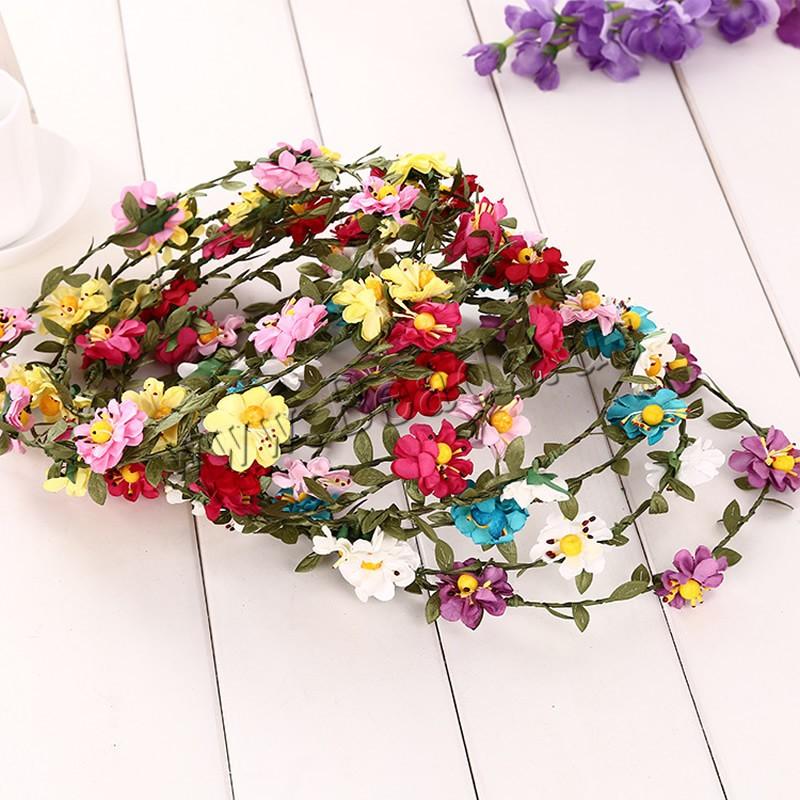 Buy Bridal Hair Wreath Spun Silk Flower handmade bridal colors choice 180-190mm Length:Approx 23 Inch 3PCs/Bag Sold Bag