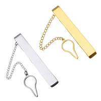 Krawatte Clip, Edelstahl, plattiert, keine, 8x57x5mm, 3x2x1mm, 11x22.5x1mm, verkauft von PC