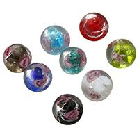 Silberfolie Lampwork Perlen, rund, keine, 12x12x12mm, Bohrung:ca. 1.8-2.5mm, 10Taschen/Menge, 50PCs/Tasche, verkauft von Menge