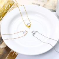 Titanstahl Halskette, mit Verlängerungskettchen von 4cm, plattiert, Oval-Kette & mit kubischem Zirkonia & facettierte, keine, 420mm, verkauft per ca. 16.5 ZollInch Strang