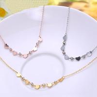 Titanstahl Halskette, mit Verlängerungskettchen von 4cm, Herz, plattiert, Oval-Kette & mit Strass, keine, 420mm, verkauft per ca. 16.5 ZollInch Strang