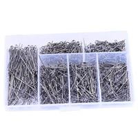 Eisen Kettelstifte, mit Kunststoff Kasten, Rechteck, metallschwarz plattiert, frei von Blei & Kadmium, 18mm, 20mm, 22mm, 24mm, 28mm, 30mm