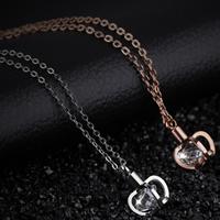 Edelstahl Schmuck Halskette, mit kubischer Zirkonia, Krone, plattiert, Oval-Kette & für Frau, keine, frei von Nickel, Blei & Kadmium, 10x10mm, verkauft per ca. 16.5 ZollInch Strang