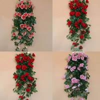 Künstliche Blumendekoration, Kunststoff, mit Seidenspinnerei, keine, 60-100cm, verkauft von PC