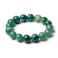 Grüner Achat Armband, natürlich, unisex & verschiedene Größen vorhanden, verkauft per ca. 7.5 ZollInch Strang