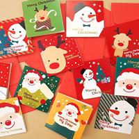 Grußkarte, Papier, Weihnachtsschmuck & gemischt, 70x70mm, 48PCs/Tasche, verkauft von Tasche