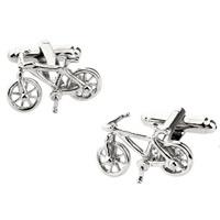 Manschettenknöpfe, Messing, Fahrrad, Platinfarbe platiniert, frei von Nickel, Blei & Kadmium, 10-20mm, verkauft von Paar