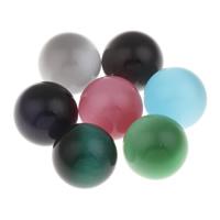 Cats Eye Perlen Schmuck, Katzenauge, rund, kein Loch, gemischte Farben, 20mm, 10PCs/Tasche, verkauft von Tasche