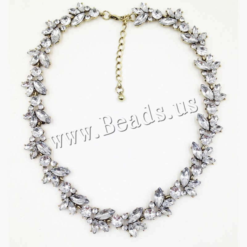 Buy Acrylic Necklace Zinc Alloy Acrylic 1lnch extender chain antique gold color plated woman & rhinestone nickel lead & cadmium free Sold Per Approx 17 Inch Strand