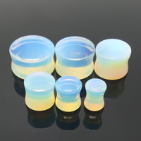 Art und Weise Piercing Tunnel, Opal, flache Runde, verschiedene Größen vorhanden, 2PCs/Tasche, verkauft von Tasche