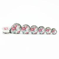 Edelstahl Piercing Durchstich, Rondell, verschiedene Größen vorhanden & Epoxy Aufkleber & Aufkleber, originale Farbe, 2PCs/Tasche, verkauft von Tasche