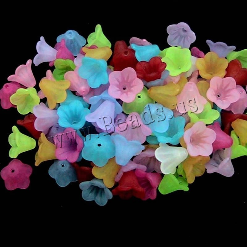 Buy Frosted Acrylic Beads Flower mixed colors 12-14mm Approx 1-2mm Sold Bag