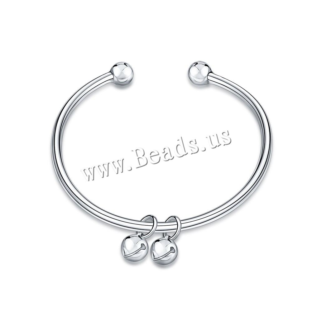 Buy Comeon® Finger Ring Brass real silver plated bell & open & woman 8x16mm Inner Diameter:Approx 60mm Length:Approx 7.4 Inch Sold PC