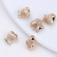 24K Gold Perlen, Messing, Blume, 24 K vergoldet, frei von Blei & Kadmium, 8.5mm, Bohrung:ca. 2mm, 20PCs/Tasche, verkauft von Tasche