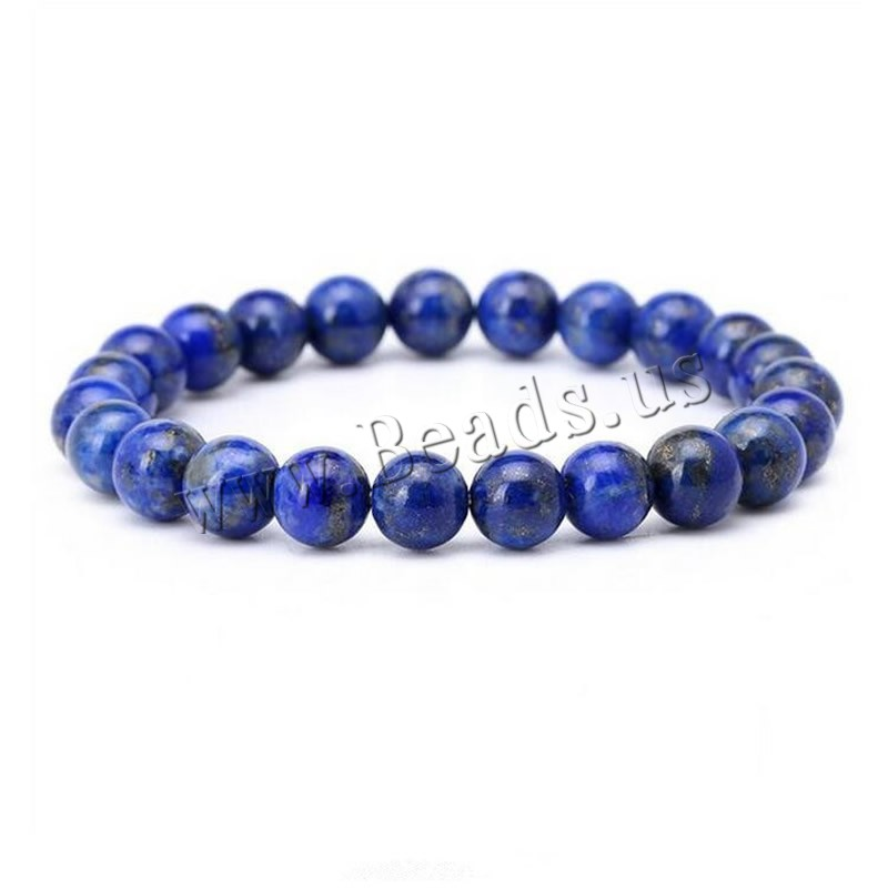 Buy Natural Lapis Lazuli Bracelets Unisex 8mm Sold Per Approx 7.5 Inch Strand