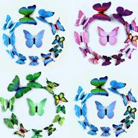 Kühlschrankmagnete, PVC Kunststoff, mit Magnetische Hämatit, Schmetterling, keine, 6-12cm, 12PCs/setzen, verkauft von setzen