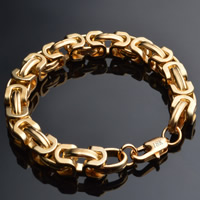 Messing Armband, 18 K vergoldet, frei von Blei & Kadmium, 9mm, verkauft per ca. 8 ZollInch Strang