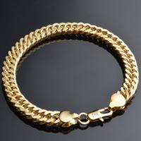 Messing Armband, 18 K vergoldet, Weizen Kette, frei von Blei & Kadmium, 8mm, verkauft per ca. 8 ZollInch Strang