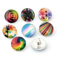"""Schaltfläche """"Chunk"""", Zinklegierung, mit Glas, Platinfarbe platiniert, Zeit Edelstein Schmuck & gemischt & Aufkleber, frei von Blei & Kadmium, 18mm, verkauft von PC"""