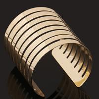 Eisen Armreif, goldfarben plattiert, frei von Blei & Kadmium, 65mm, Innendurchmesser:ca. 60mm, Länge:ca. 7 ZollInch, verkauft von PC