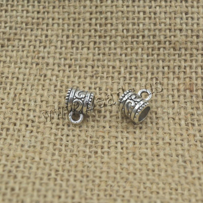 Buy Zinc Alloy Bail Beads Column antique silver color plated lead & cadmium free 11x8x8mm Hole:Approx 1.5mm 5mm 30PCs/Bag Sold Bag