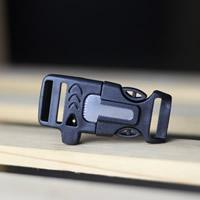 Überlebensarmband Verschluss, Kunststoff, mit Feuer-starter, schwarz, 30x65mm, 10PCs/Tasche, verkauft von Tasche